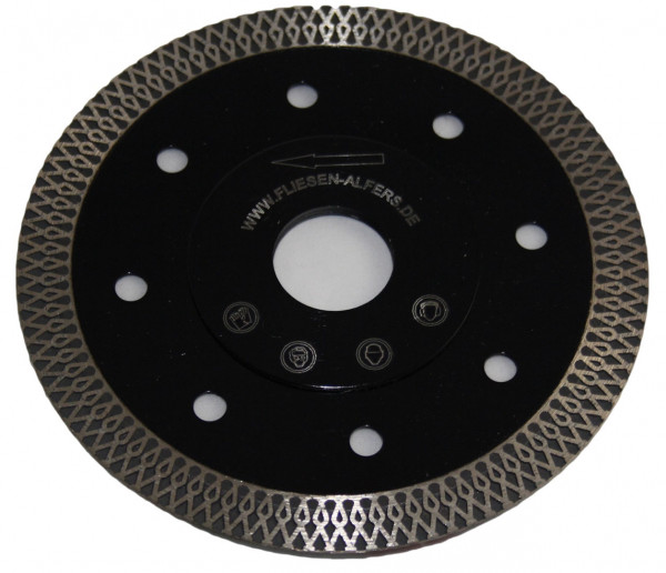 "High-end diamond disc - ""BLACK TIGER"" - 125 mm, 130 mm - ornament segment, reinforced flange"