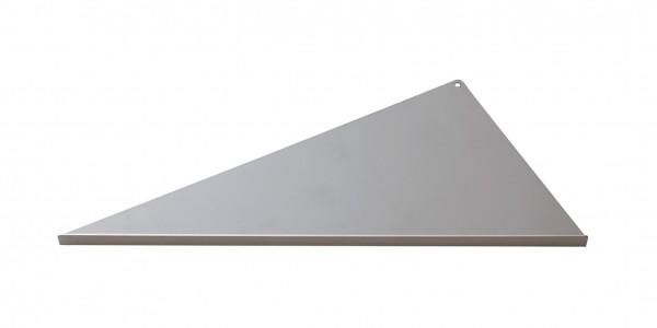 Duschablage-Eckablage, dreieckig, langer Schenkel rechts Breite 340x160x300mm
