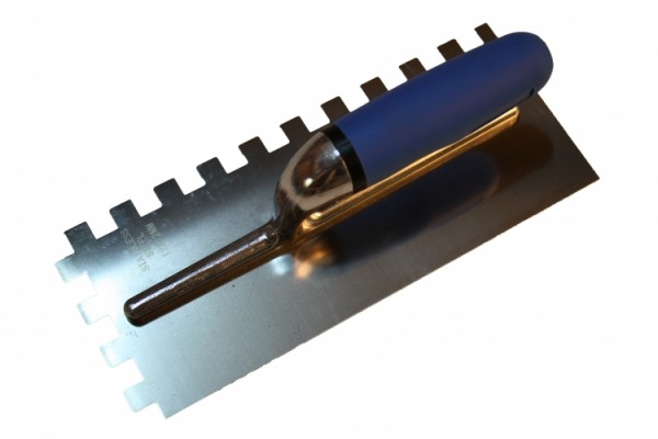 Zahnspachtel Edelstahl, 6 mm,, 10 mm, 12 mm Zahnung