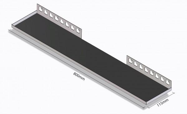 Duschablage-Rechteckablage Breite 800mm Tiefe 115mm