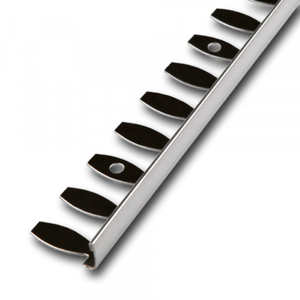 Bendable straight edge profile, stainless steel