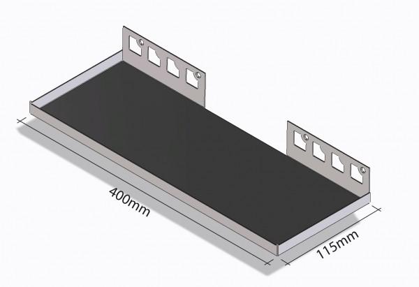 Duschablage / Breite 400 mm x Tiefe 115 mm / Rechteckablage