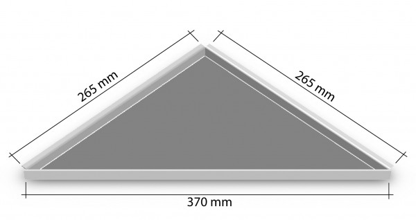 Duschablage-Eckablage zum nachrüsten 265x265mm