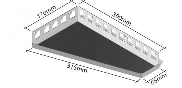 Duschablage-Eckablage Schenkel 170x300x65mm Breite 315mm,rechts