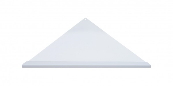 Duschablage-Eckablage, dreieckig, gleichschenklig Vorderkante Quadroprofil,Farbe:weiß Breite:335x250