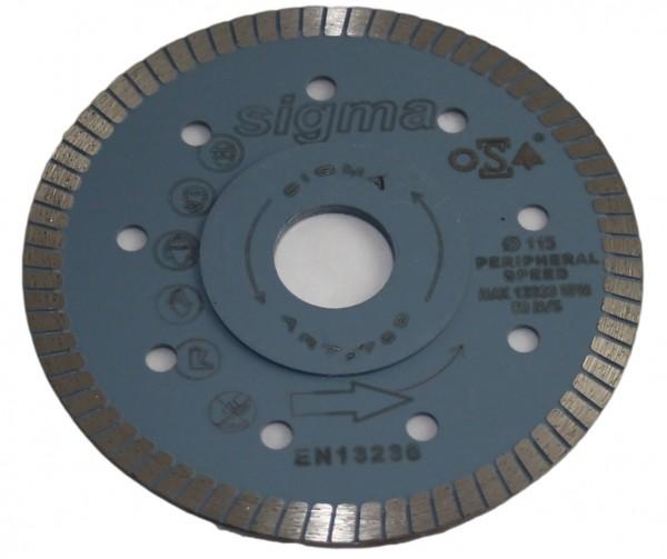 Sigma diamond disc - 115 mm, 1.2 mm - extra thin