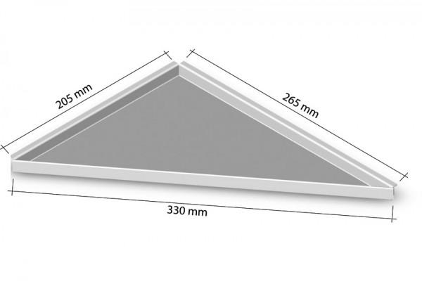 Duschablage_Eckablage zum nachrüsten rechts 265x205mm