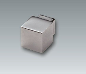 Alu Quadroecke, silber eloxiert, Höhe 7 mm