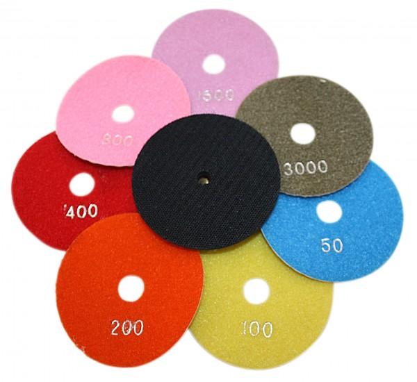 100 mm Trocken Polierscheiben Polierpads Schleifpads Diamantpads K 50 -K 3000
