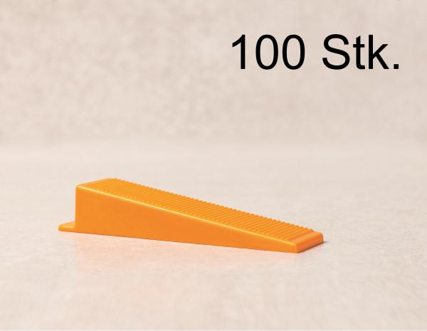 Verlegefix 100 Keile Fliesen Nivelliersystem Kompatibel zu planfix Verlegehilfe