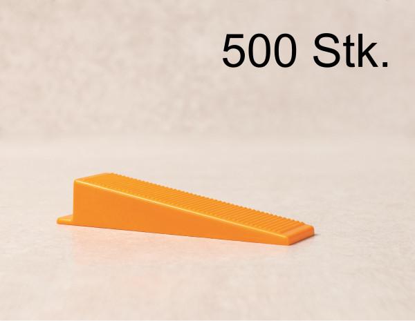 Verlegefix 500 Keile Fliesen Nivelliersystem Kompatibel zu planfix Verlegehilfe