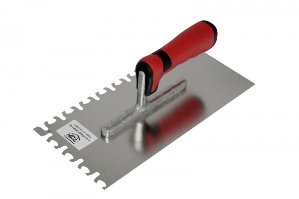 Notched trowel Holotop - stainless steel, soft grip - 280 x 130 mm