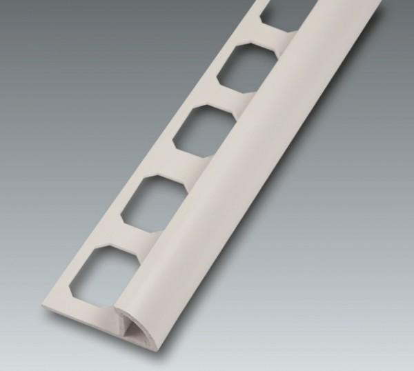 Kunststoff Viertelkreis-Profil, geschl., brillantweiß, Höhe 8 mm je 2,50 m