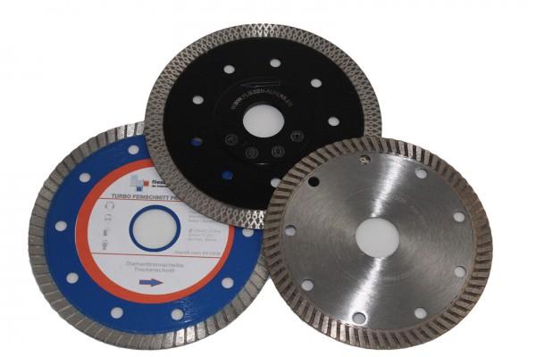 3 diamond discs - 125 mm - 1x Black Tiger, 1x Turbo Fine Cut Silver, 1x Turbo Fine Cut Professional