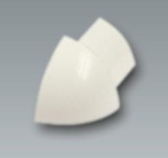 Kunststoff-Außenecke, brillantweiß, Höhe 6 mm