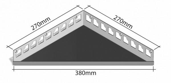 Duschablage-Eckablage Schenkel 270x270mm Breite 380mm