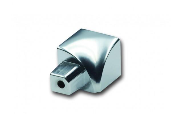 Aluminium Innenecke für Viertelkreisprofil, silberglänzend, Höhe 8 mm