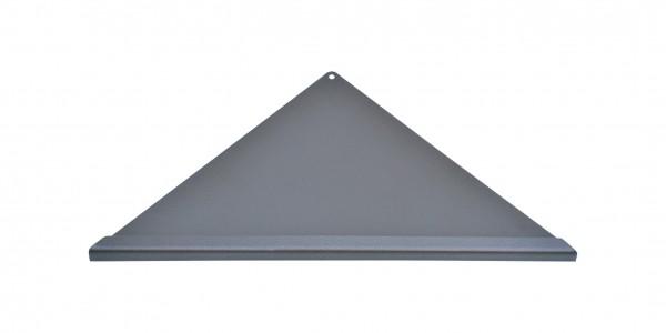 Duschablage-Eckablage, dreieckig, gleichschenklig Vorderkante Quadroprofil,Farbe:anthrazit Breite:35