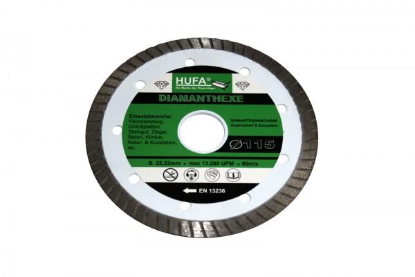 Diamond disc original Hufa - 115 mm, 1.2 mm