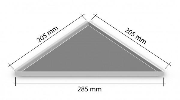 Duschablage-Eckablage zum nachrüsten 205x205mm