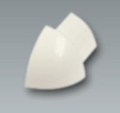 Kunststoff-Außenecke, brillantweiß, Höhe 8 mm