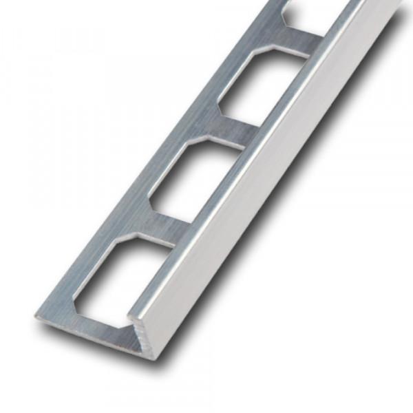 Aluminium straight edge profile, natural