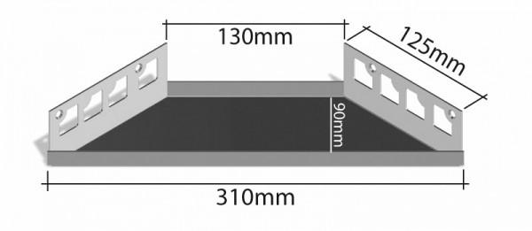 Duschablage-Eckablage Schenkel 310mmx130mm Tiefe 90mm
