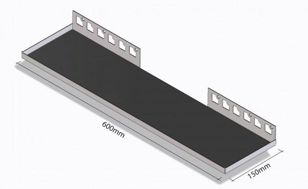 Duschablage-Rechteckablage Breite600mm Tiefe 150mm