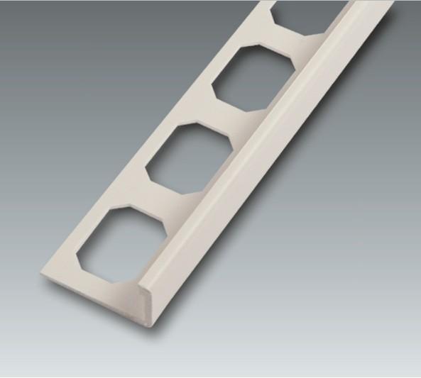 Kunststoff Winkelabschluss-Profil, brillantweiß, Höhe 12,5 mm je 2,50 m
