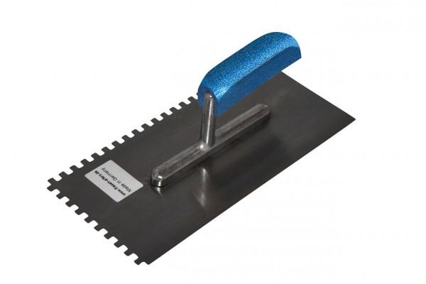 Zahnkelle für Linkshänder 6mm Zahnung Blauer Holzgriff