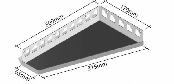 Duschablage-Eckablage Schenkel 300x170x65mm Breite 315mm links