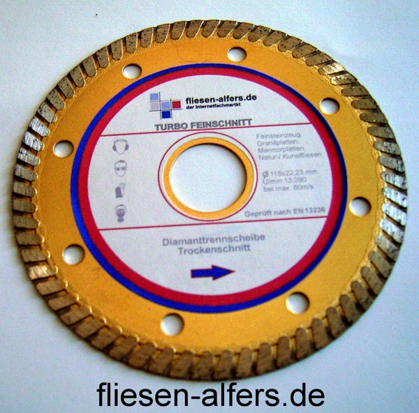 6 roles sealing tape, 120 mm, 50 m + 1 diamond disc 115 mm, 1.2 mm
