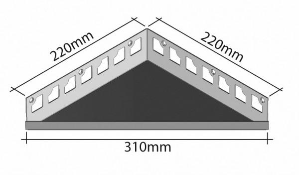 Duschablage-Eckablage Schenkel 220mmx220mm Breite 310mm