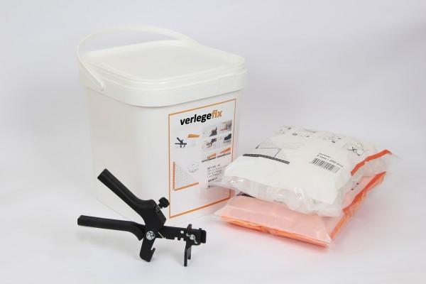Verlegefix Fliesen Nivelliersystem Basiset 2,0 mm XL 250 Laschen 250 Keile Kunstoffzange