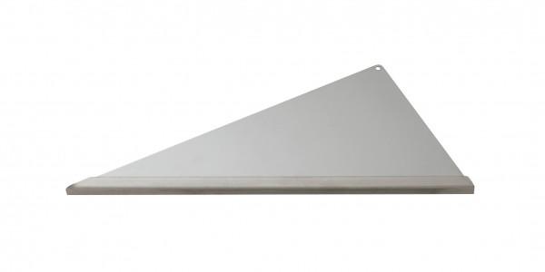 Duschablage-Eckablage, dreieckig, Langer Schenkel rechts Vorderkante: Quadroprofil Breite:340x300x16