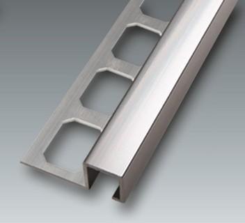 Aluminium Quadro-Profil, Fliesenschiene silber glänzend, Höhe 11 mm, je 2,50 m/Schiene