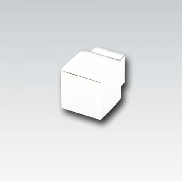 Kunststoff-Quadroecke, weiß, Höhe 9 mm