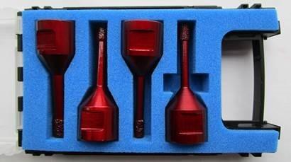 Bohrkronenset bestehend aus 6, 8, 10, 12 mm Bohrkronen