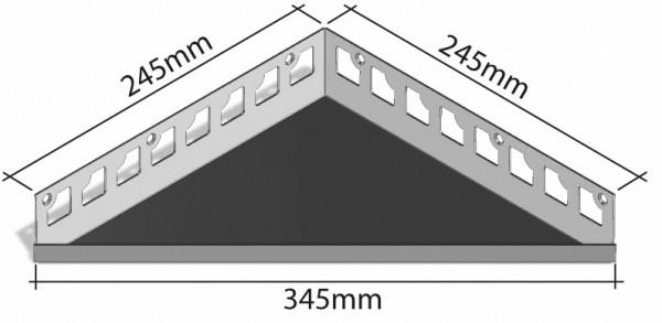 Duschablage-Eckablage Schenkel 245mmx245mm Breite 380mm