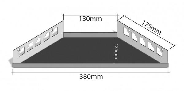 Duschablage-Eckablage Schenkel 380x130mm Tiefe 125mm