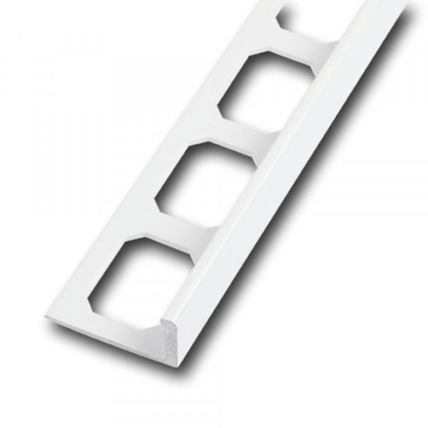 Winkelabschlussprofil Aluminium pulverbeschichtet weiß