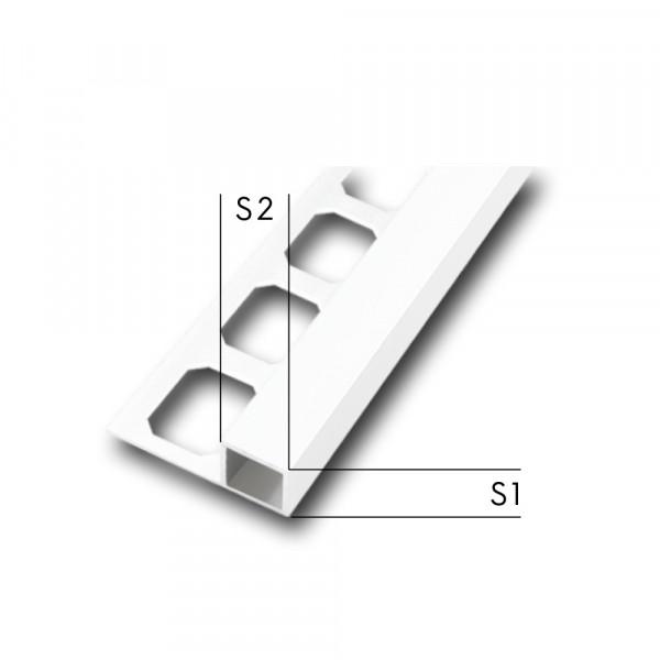Quadroprofil PVC brillantweiß