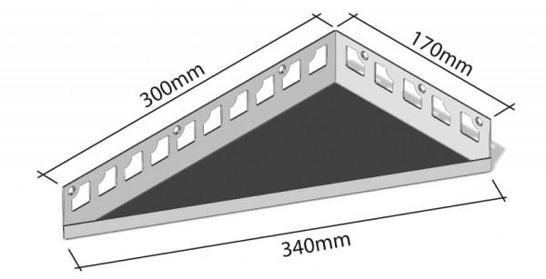 Duschablage-Eckablage Schenkel 300x170mm Breite340mm
