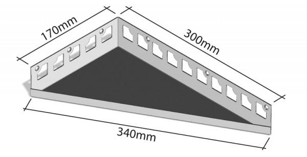 Duschablage-Eckablage Schenkel 170x300mm Breite 340mm,rechts