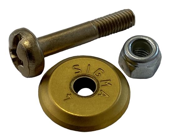 Sigma Ersatzrädchen 12 mm mit Achse, Titanstahl