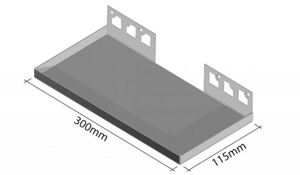 Duschablage- Rechteckablage Breite 300mm Tiefe 115mm