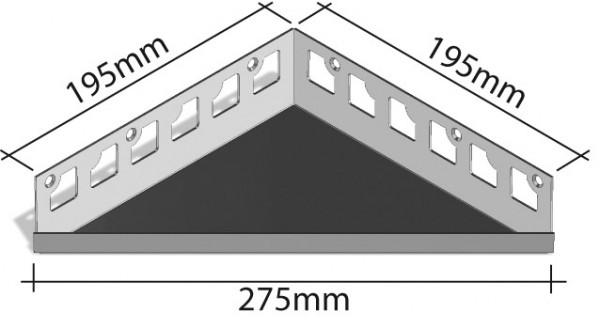 Duschablage-Eckablage Schenkel 195x195mm Breite 275mm