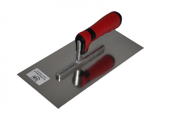 Glätter, Edelstahl, 280 x 130 mm mit Softgriff Glättekelle