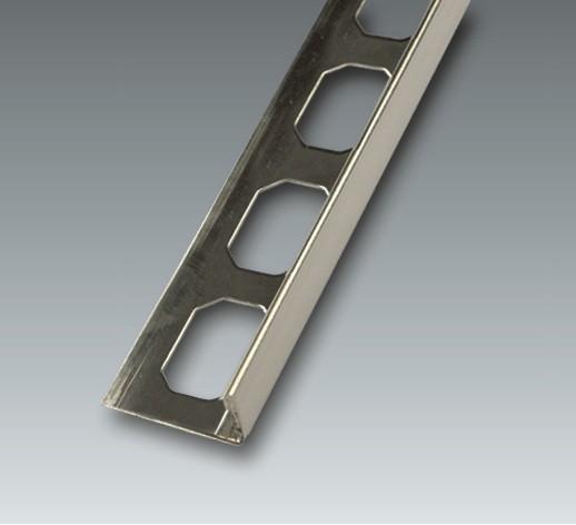 Edelstahl Winkelabschluss-Profil, V2A, geschliffen, Höhe 6 mm je 2,50 m