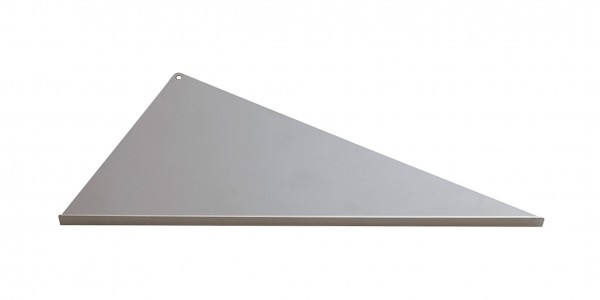 Duschablage-Eckablage, dreieckig, langer Schenkel links Breite 340x160x300mm